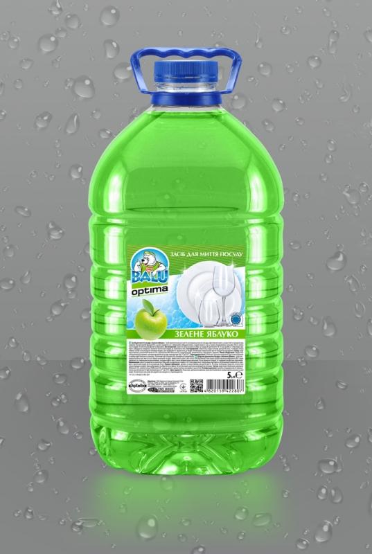 BALU<sup>®</sup> OPTIMA Зеленое яблуко <br><b style=font-size:12px;>(Средство для мытья посуды)</b>