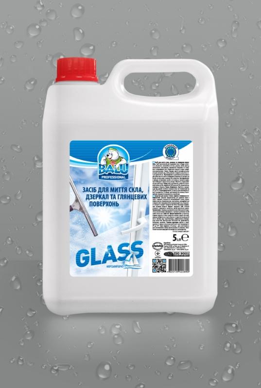 BALU<sup>®</sup> Glass <br><b style=font-size:12px;>(Средство для мытья стекол, зеркал и глянцевых поверхностей)</b>