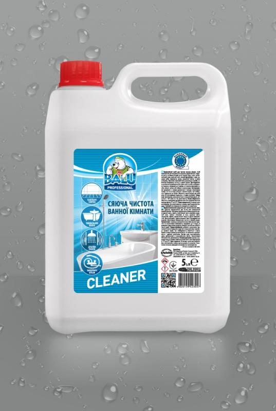 BALU<sup>®</sup> GLEANER <br><b style=font-size:12px;>( Профессиональное средство для мытья сантехники и керамики)</b>