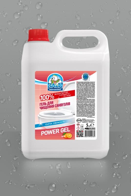 BALU<sup>®</sup> POWER GEL Цитрус <br><b style=font-size:12px;>( Гель для чистки санузлов )</b>