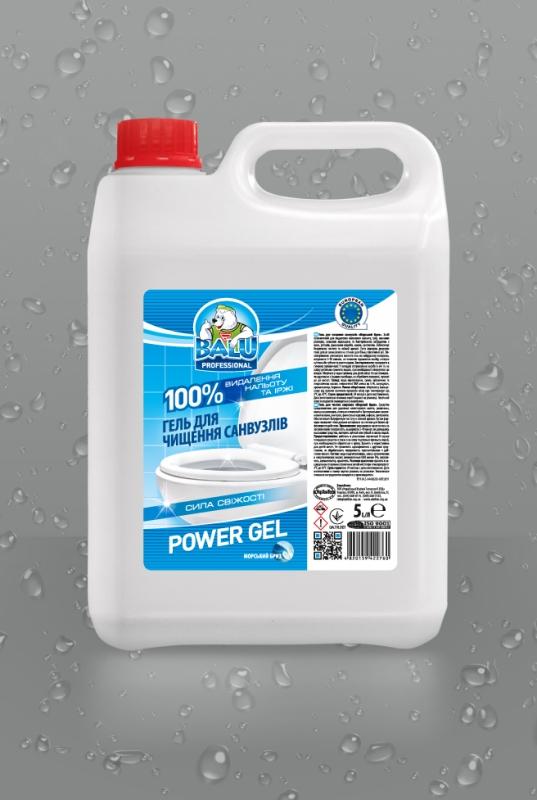 BALU<sup>®</sup> POWER GEL Морской бриз <br><b style=font-size:12px;>( Гель для чистки санузлов )</b>