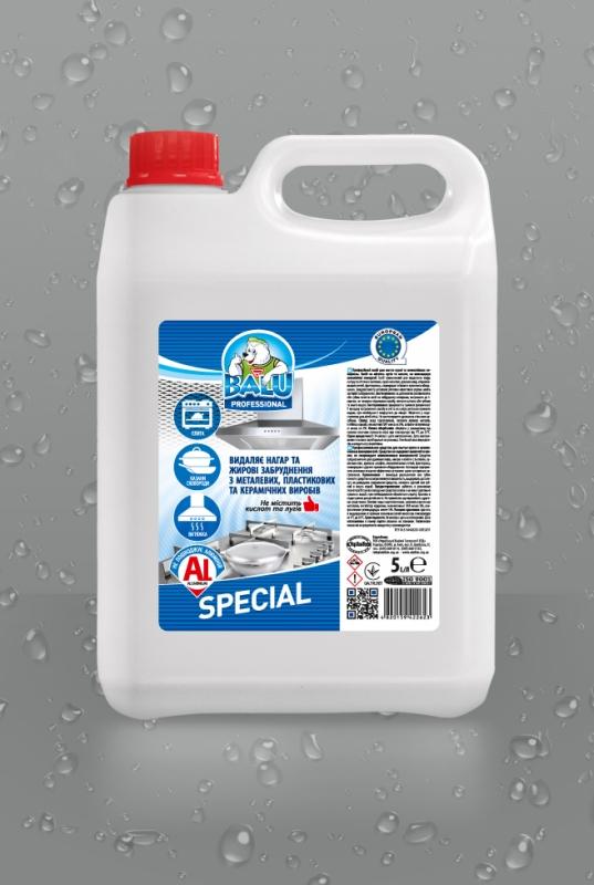 BALU<sup>®</sup> SPECIAL <br><b style=font-size:12px;>( Профессиональное средство для мытья кухни и алюминиевых поверхностей )</b>