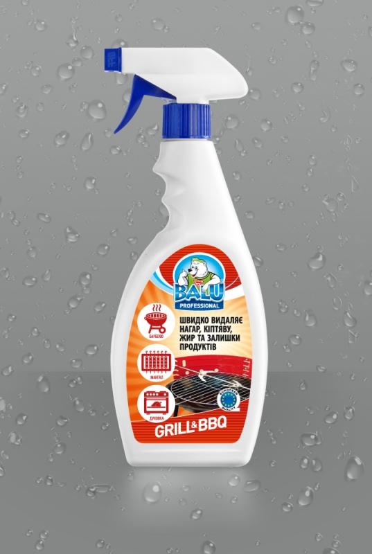 BALU<sup>®</sup> GRILL & BBQ <br><b style=font-size:12px;>( Профессиональное средство для мытья кухни и гриля )</b>